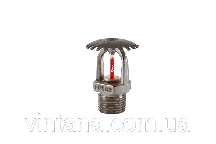 Спринклер пожарный Duyar (Турция), розеткой вверх, быстрого срабатывания, хром, фото 2
