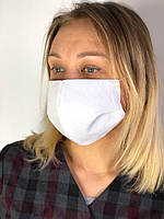 Защитная маска многоразовая трехслойная белая