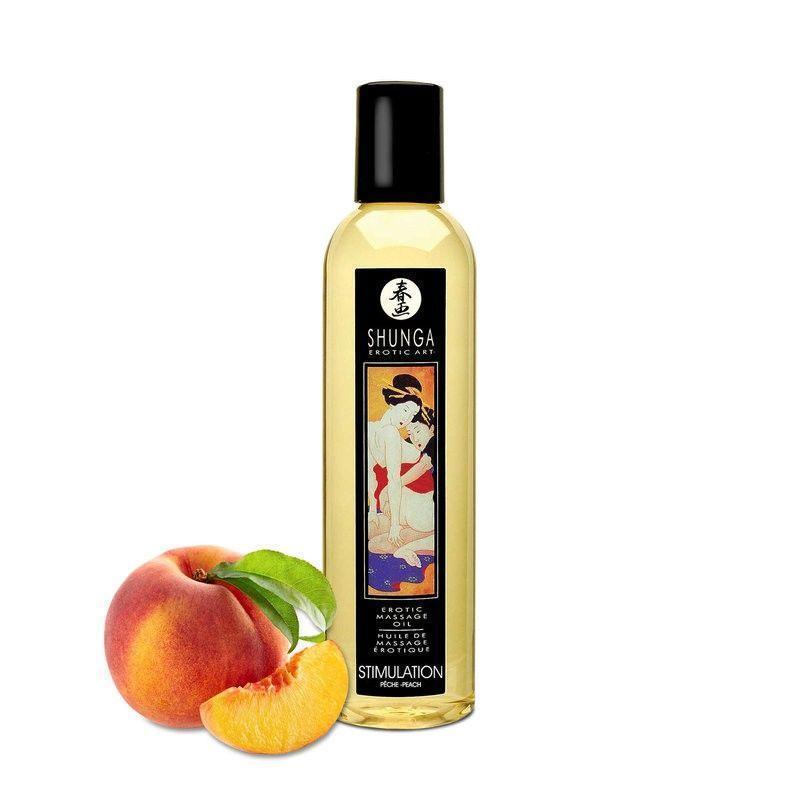 Массажное масло Shunga Stimulation - Peach (250 мл)
