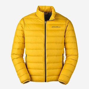 Ультра легкий пуховик Eddie Bauer Men's CirrusLite Down Spring Jacket Dk Marigold Reg S