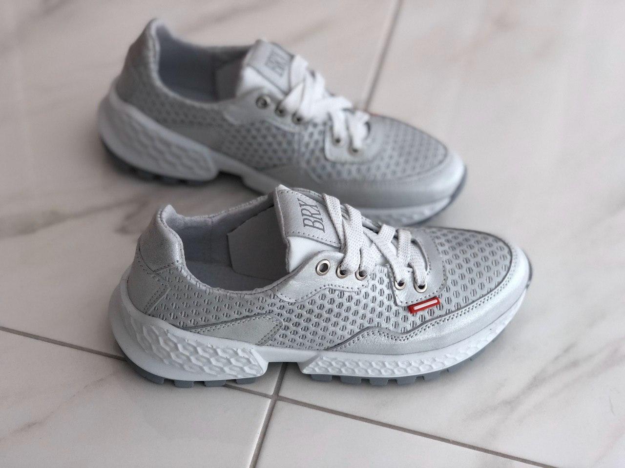 Кожаные женские кроссовки Broxci 10102 размер 36