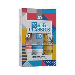 Набор System JO Tri-Me Triple Pack - Classics (3 х 30 мл) водная, силиконовая и вкусовая смазки 18+