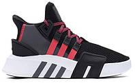 """Мужские кроссовки Adidas Equipment *EQT* Bask ADV C2C """"Black Grey Red White"""" - """"Черные Серые Красные Белые"""""""