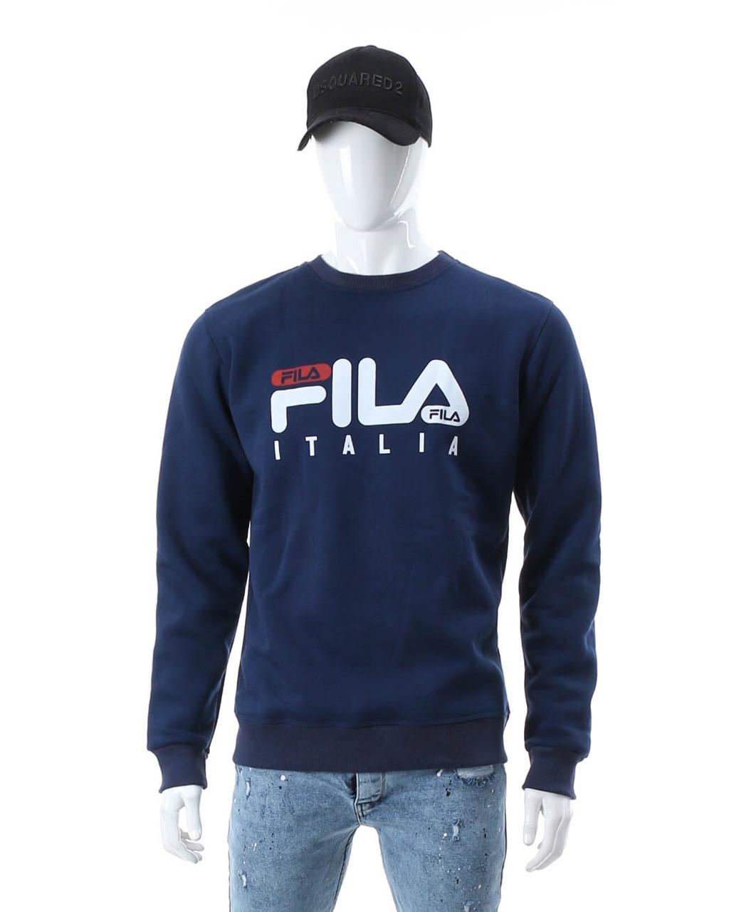 """Свитшот осень-зима индиго FILA """"ITALIA"""" с лого IND S(Р) 19-423-003"""