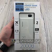 Power Bank Reddax RDX-252 20000 mAh Реальная емкость Led Display внешний аккумулятор портативный повербанк