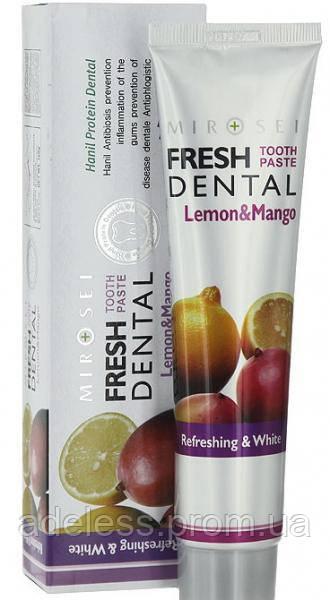 """Освежающая зубная паста HANIL NANO Fresh Dental """"Lemon & Mango"""" 160 ml"""