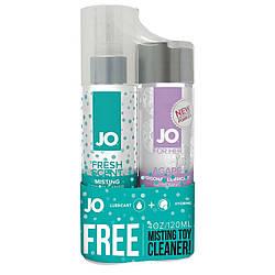 Набор смазка плюс клинер бесплатно: System JO Agape (120 мл) + MistingToy Cleaner (120 мл) 18+