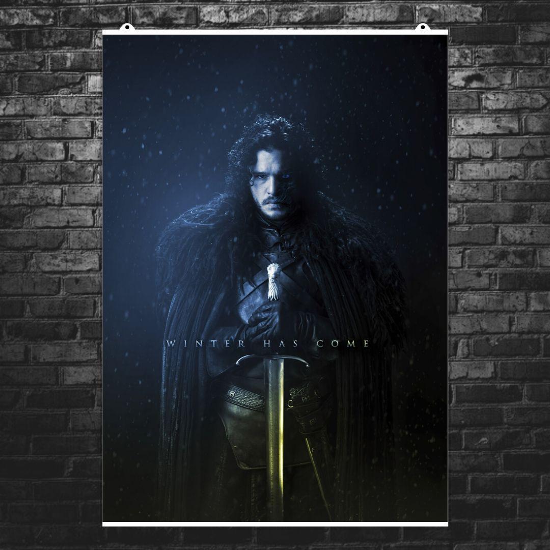 """Постер """"Игра Престолов. Джон Сноу / Король Ночи"""". Game Of Thrones, GOT. Размер 60x42см (A2). Глянцевая бумага"""