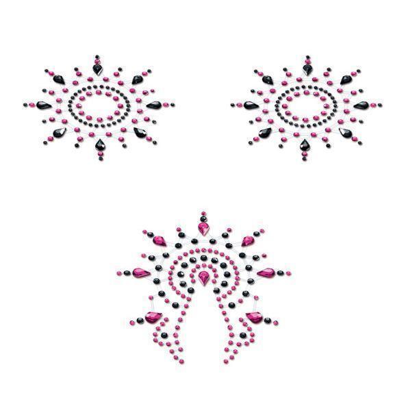 Пэстис Petits Joujoux Gloria set of 3 - Black/Pink