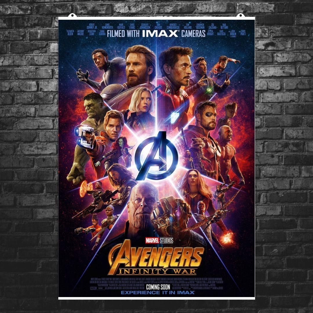 """Постер """"Мстители: Война Бесконечности. Лого в центре"""". Avengers: Infinity War"""". Размер 60x42см (A2). Глянцевая бумага"""