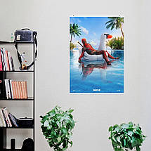 "Постер ""Deadpool. Дэдпул на уточке в бассейне"". Marvel. Размер 60x42см (A2). Глянцевая бумага, фото 3"