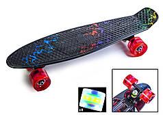 """Скейт Пенни борд Penny Board Ultra Led 22"""" Стрит - Молния 54 см"""