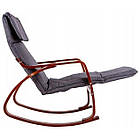 Крісло качалка з підставкою для ніг Goodhome TXRC02 Walnut, фото 3
