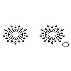 Пэстис из кристаллов Petits Joujoux Gloria set of 2 - Black, украшение на грудь 18+