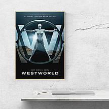 "Постер ""Мир Дикого запада, сезон 1"", Westworld. Размер 60x43см (A2). Глянцевая бумага, фото 3"