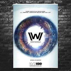 "Постер ""Мир Дикого запада, сезон 2"", Westworld. Размер 60x43см (A2). Глянцевая бумага"