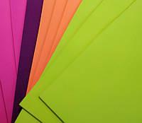 Фоамиран А4 набор неон 10 листов 1,8 мм.