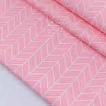"""Лоскут сатина """"Большая косичка"""" на розовом фоне № 2631с, размер 43*80см, фото 2"""