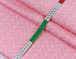 """Лоскут сатина """"Большая косичка"""" на розовом фоне № 2631с, размер 43*80см, фото 3"""
