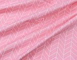 """Лоскут сатина """"Большая косичка"""" на розовом фоне № 2631с, размер 43*80см, фото 5"""