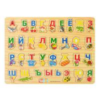 Деревянная игрушка Вкладыш Азбука 02040
