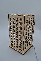 """Декоративный ночник для детей из дерева """"Звездное небо"""""""
