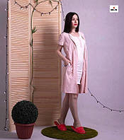 Женский комплект халат на молнии с ночной р.42-54, фото 1