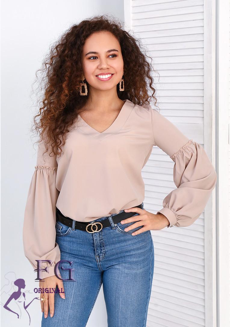 "Блуза с объемным рукавом ""Adel"" #A/S"