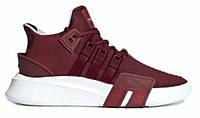 """Мужские кроссовки Adidas Equipment *EQT* Bask ADV Core """"Red Night"""" - """"Красные - Бордовые Белые"""" (Реплика ААА+)"""