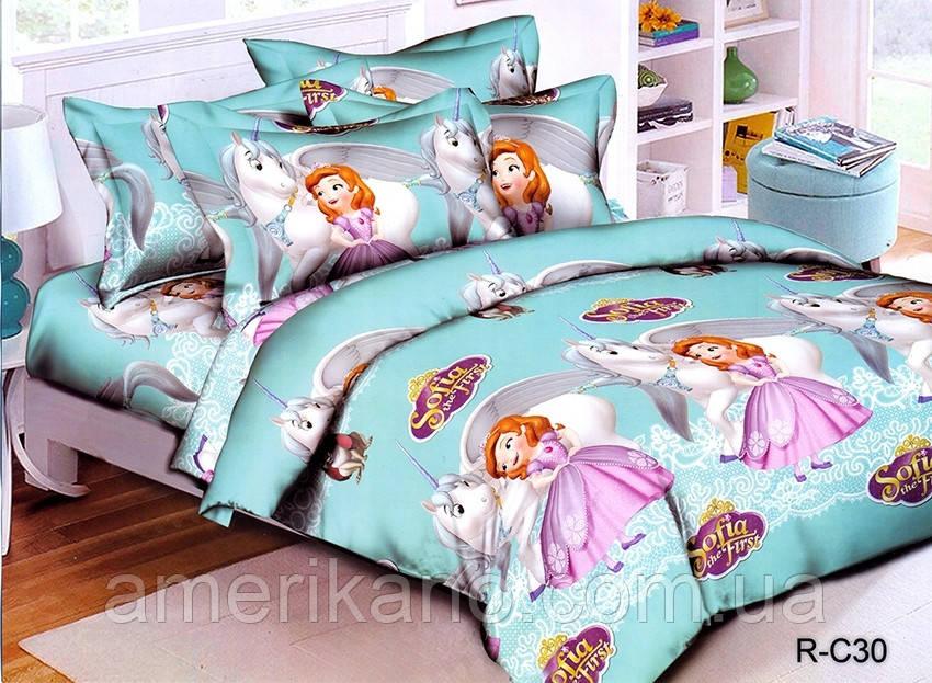 Постельное белье детское ТАГ 1.5-спальное. Ткань ранфорс. Расцветка для девочки.