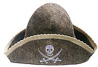 Шапка для сауны и бани из натуральной шерсти - Пират