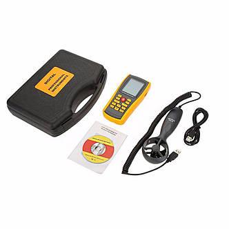 Анемометр-термометр USB 0,3-45м/с, 0-45°C BENETECH GM8902, фото 2