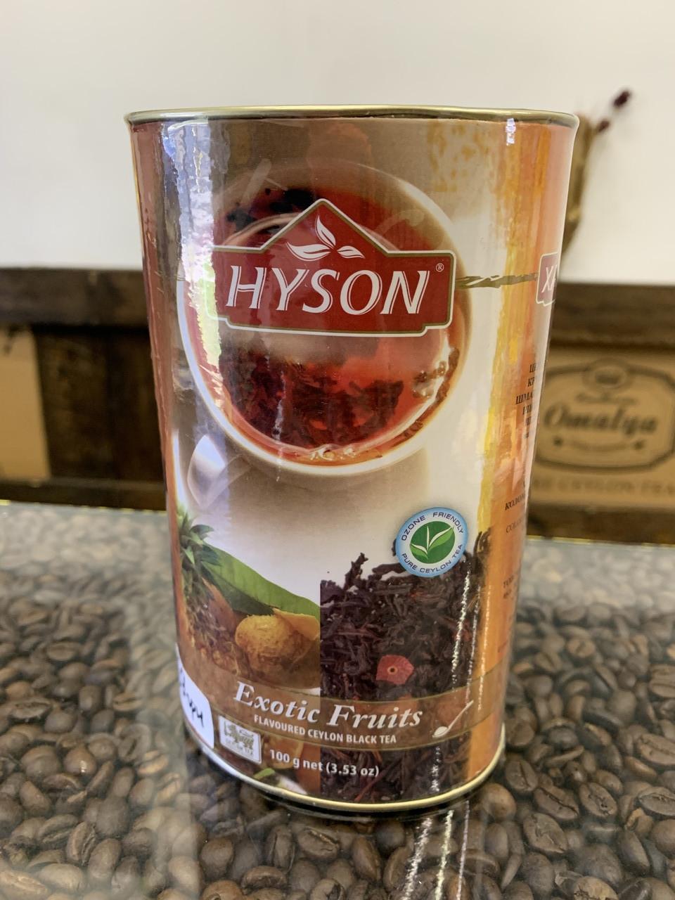 "Чорний  чай ""Екзотичні фрукти""  Hyson (Хайсон),100 г."