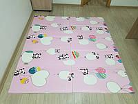Детский игровой коврик трансформер Панды (складной мягкий непромокающий развитие двухсторонний) 2*1,8 м, 10 мм