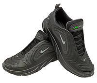 Кроссовки  черные натуральная кожа на шнуровке (N-7 сер), фото 1