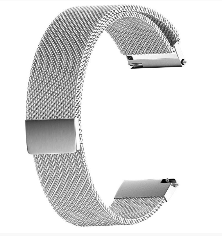 Браслет для часов из нержавеющей стали, миланский стиль. 22 мм