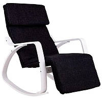 Кресло качалка с подставкой для ног Goodhome TXRC03 White