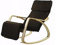 Кресло качалка с подставкой для ног Goodhome Brown