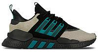 """Мужские кроссовки Adidas Equipment *EQT* Packed 91/18 """"Black Green"""" - """"Черные Зеленые"""" (Реплика ААА+)"""