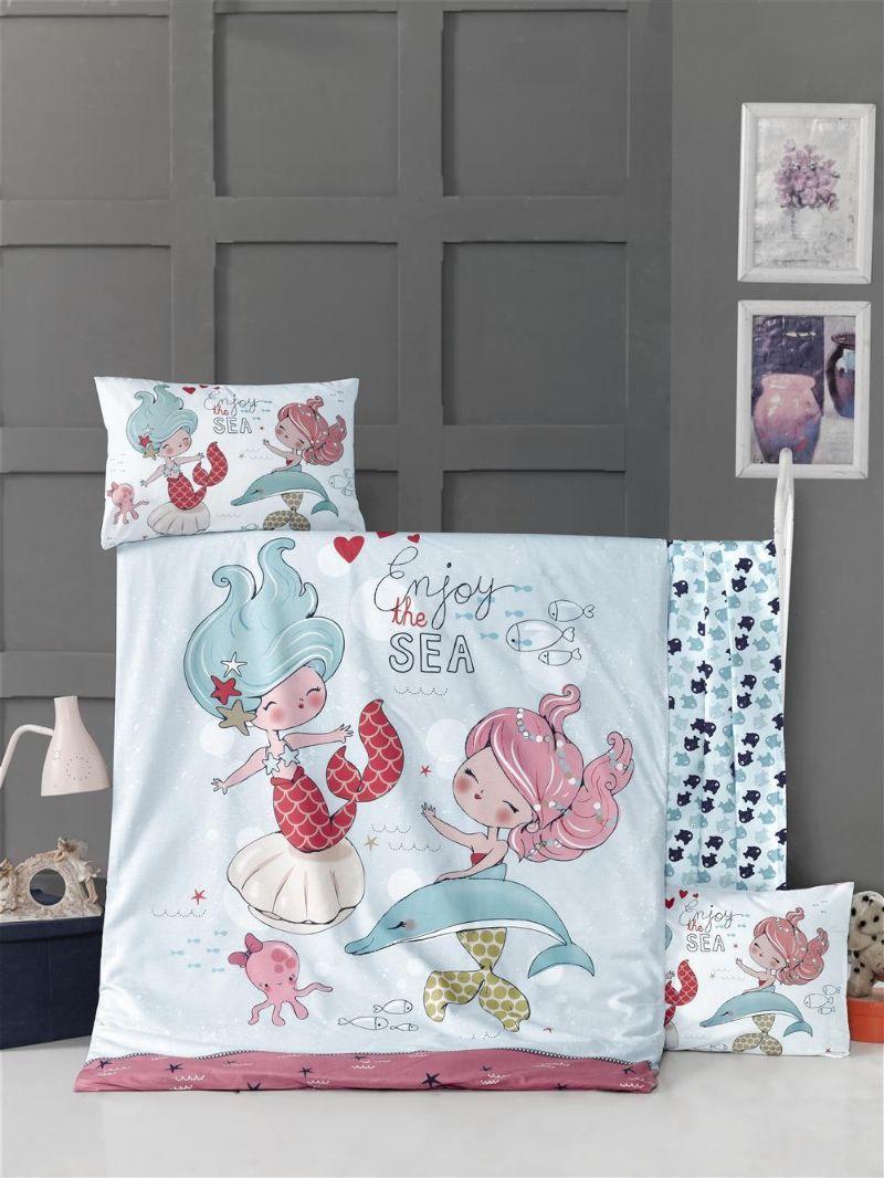 Детский комплект постельного белья Ranforce Fish Girl 100х150 см. (50620)