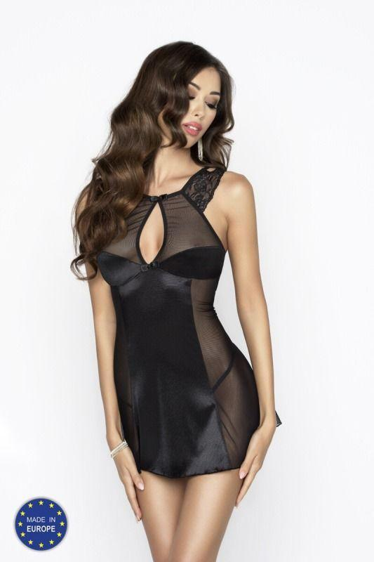 CHARMING CHEMISE black L/XL - Passion