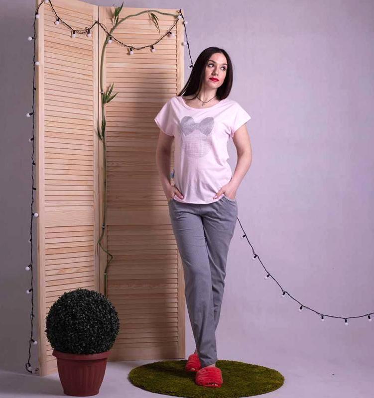 """Женская пижама летняя футболка со штанами """"Минни Маус"""" р42-54"""