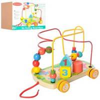 Деревянная игрушка Каталка Лабиринт на проволоке 02065