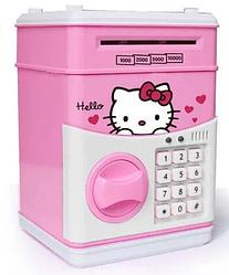 Сейф-копилка детский Cartoon Box 7030 с кодовым замком, хелло Китти
