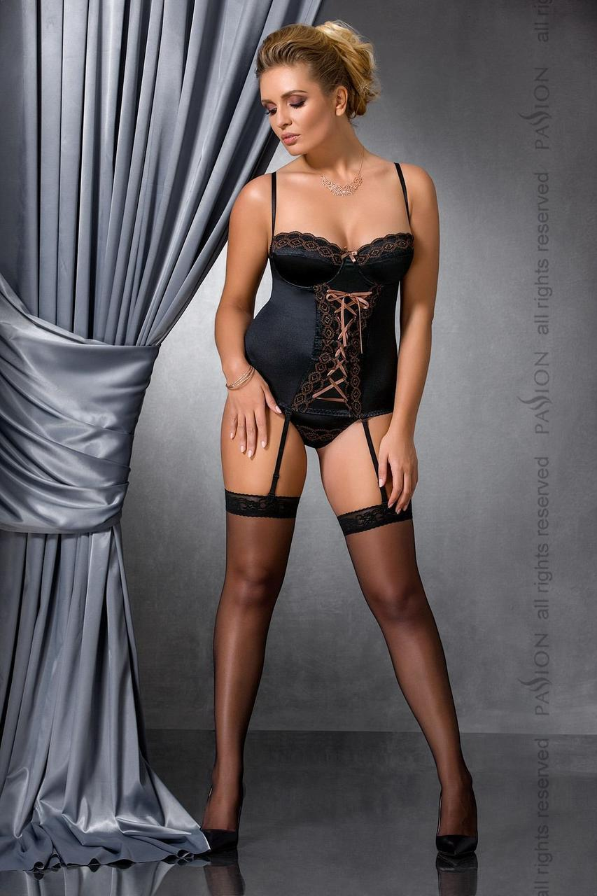 EVANE CORSET black 6XL/7XL - Passion