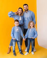 """Семейный комплект вышивания джинс  """"Звезда"""""""