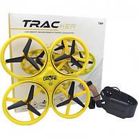 Квадрокоптер TRACker дрон з сенсорним управлінням LED Жовтий.