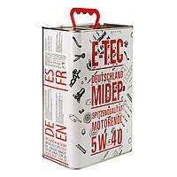 Моторное масло E-TEC (metal) 5W40 EVO 4л