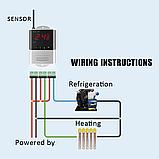 Терморегулятор XH-W3001  220В 10А с выносным датч.-100см (-50 +110), фото 3