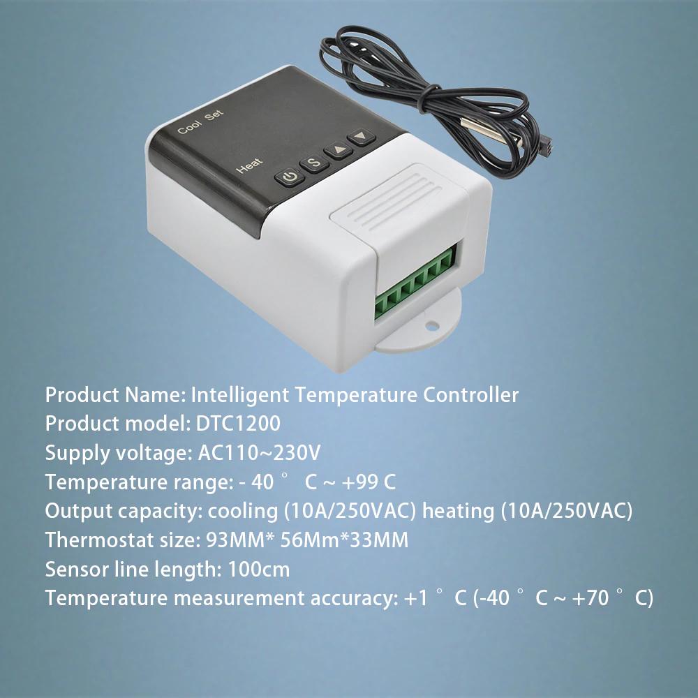 Терморегулятор XH-W3001  220В 10А с выносным датч.-100см (-50 +110)